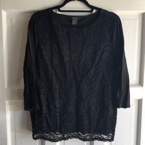 Ann Taylor Factory - lace front shirt - XL